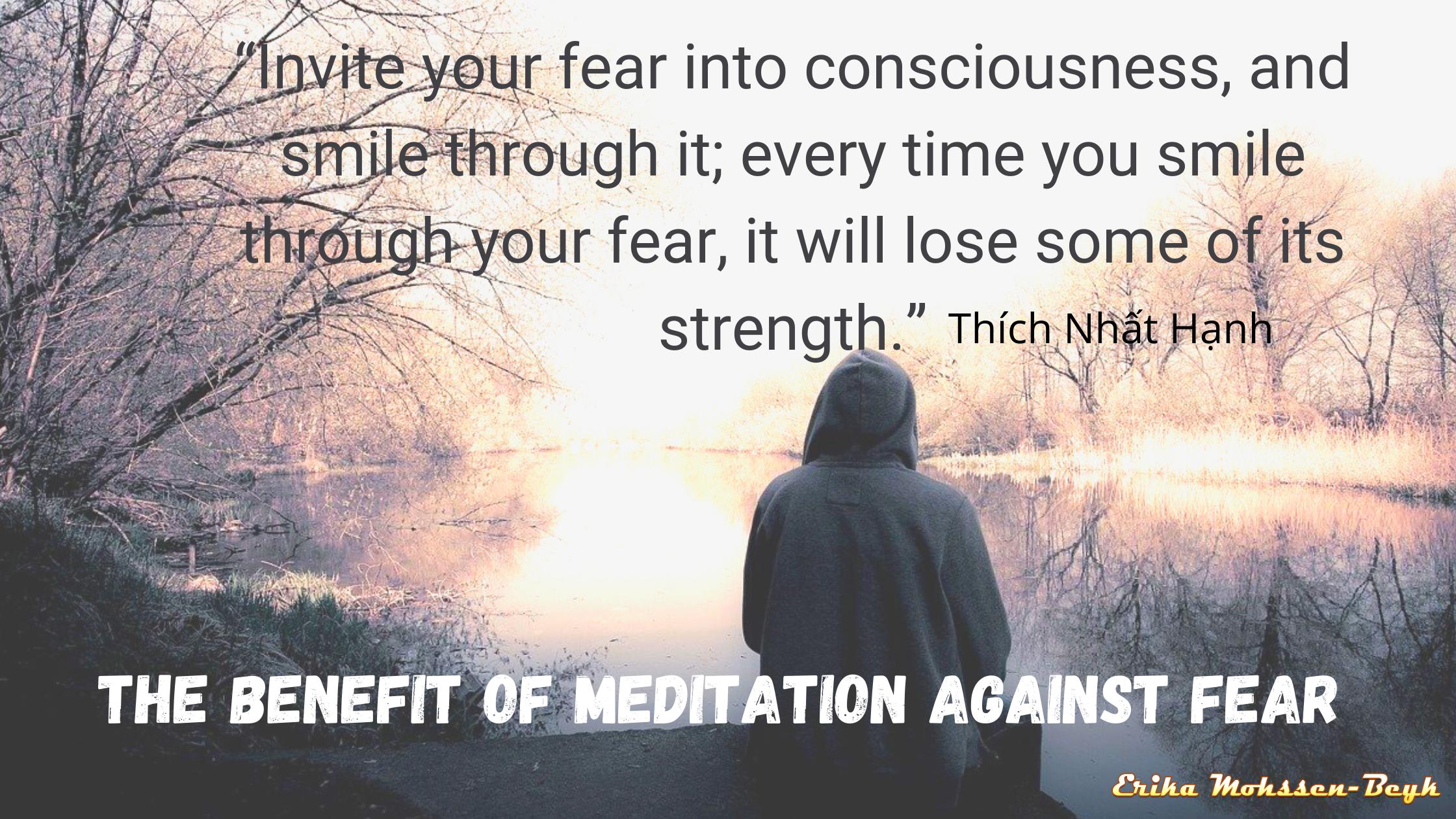Meditation against fear